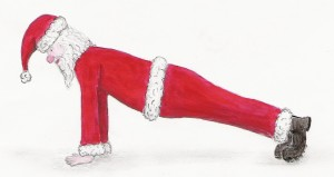 Santa Push ups Personal rtrainer exeter